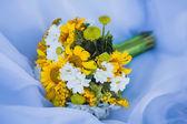 Barevné svatební kytice — Stock fotografie
