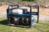 Gasoline Powered Portable Generator — Stock Photo