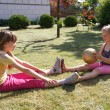 Two little girls playing — Stock Photo