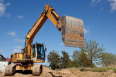 Excavators working — Stock Photo