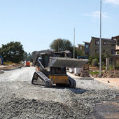 Construction of a new street — Stock Photo