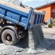 Dumper unload crushed stone — Stock Photo #15853219