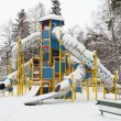 Snow covered playground — Stock Photo