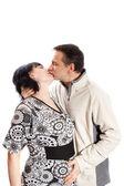 Man kissing pregnant woman — Stock Photo