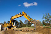 Excavator working — Stock Photo