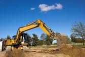 Excavator working — Fotografia Stock