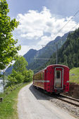 Swiss mountain train Bernina Express — Stock Photo