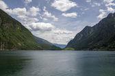 Lake Lago di Poschiavo swiss — Stock Photo