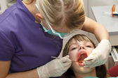 At the dentist — Stock Photo