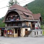 Cavaglia's train station, Switzerland — Stock Photo