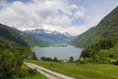 Lago lago di poschiavo svizzero — Foto Stock