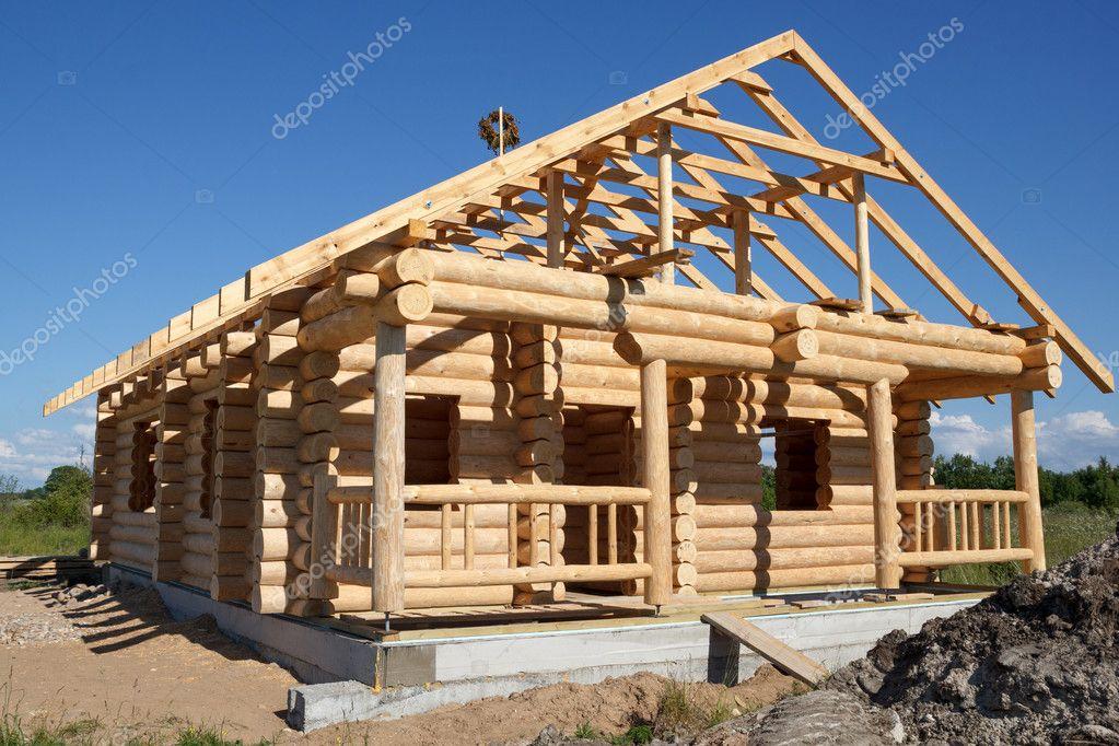 Casa construida de troncos fotos de stock 21457833 - Casas de madera de troncos ...
