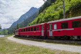 Montanha suíça de trem bernina express — Foto Stock