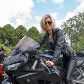 Motorkářka — Stock fotografie