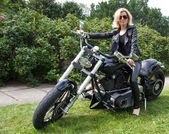 Biker girl — Stock fotografie