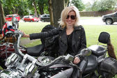 Garota motociclista — Foto Stock