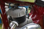 Retro motorcycle engine — Stock Photo