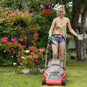 Woman work in garden — Stock Photo