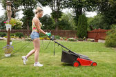 ženy vyřezaným zahradní — Stock fotografie