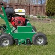 Постер, плакат: Man working with Lawn Aerator