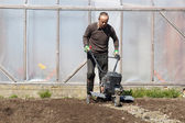 Trädgård jordfräs — Stockfoto