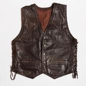 Leather vest — Stock Photo