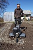 Zahradní kultivátor — Stock fotografie
