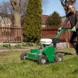 Man working with Lawn Aerator — Stockfoto