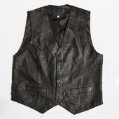 Leather vest — Stockfoto