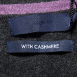Stock Photo: With cashmere label