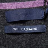 With cashmere label — Stock Photo