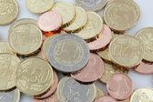 Fresh latvian euro coins — Stock Photo
