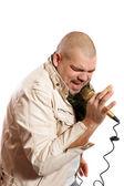 Rock singer — Stock Photo