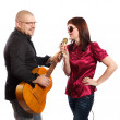 Stock Photo: Couple sing