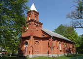 Mikeltornis Evangelical Lutheran Church — Stock Photo
