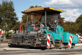 Asphalt paving machine — Foto Stock