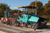 Máquinas de pavimentación de asfalto — Foto de Stock