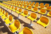 Yellow benches — Stock Photo