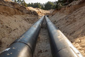 Layed pipeline construction — Stock Photo