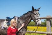 馬の女性 — Stock fotografie