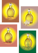 Containers for liquids — Stock Vector