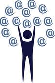 Logo e-mail address — Stock Vector