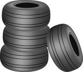 Heavy tires — Stock Vector