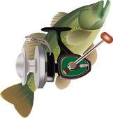 Sport fishing — Stock Vector