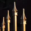 Gold metal fence — Stockfoto
