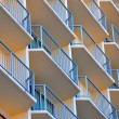 Stock Photo: Geometric patterned balconies