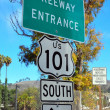 Freeway entrance sign — Stock Photo #13696503
