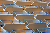 Geometric patterned balconies — Stock Photo
