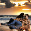 Seaside lovers — Stockfoto