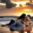 Stock Photo: Seaside lovers